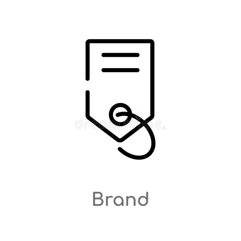 icône de vecteur de marque d'ensemble ligne simple noire d'isolement illustration d'élément de concept de mode et de commerce Vec illustration libre de droits