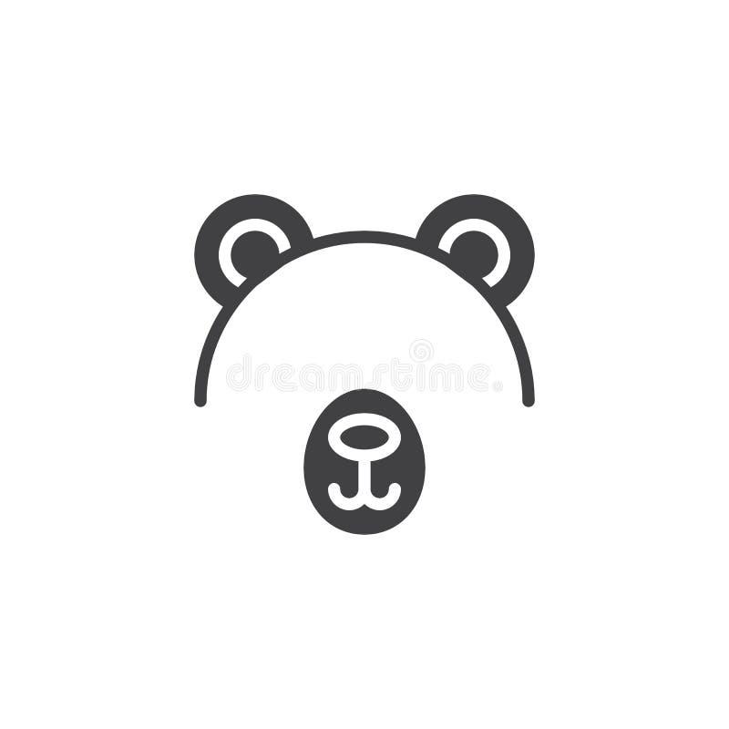 Icône de vecteur de masque d'ours illustration stock