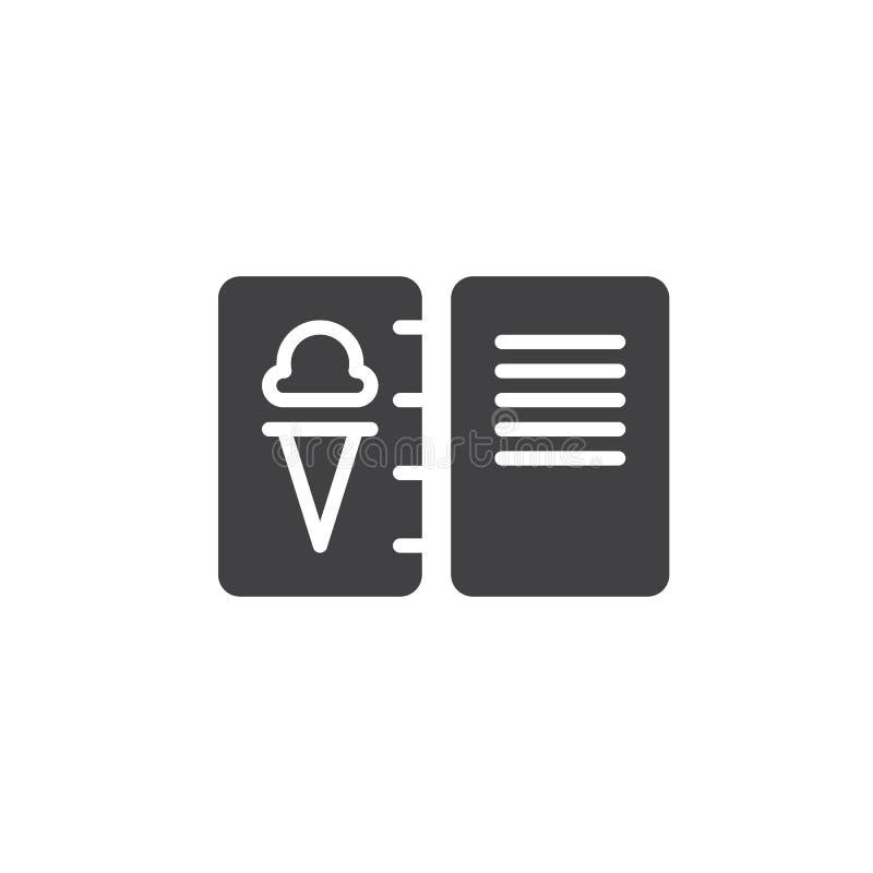 Icône de vecteur de menu de crème glacée  illustration libre de droits