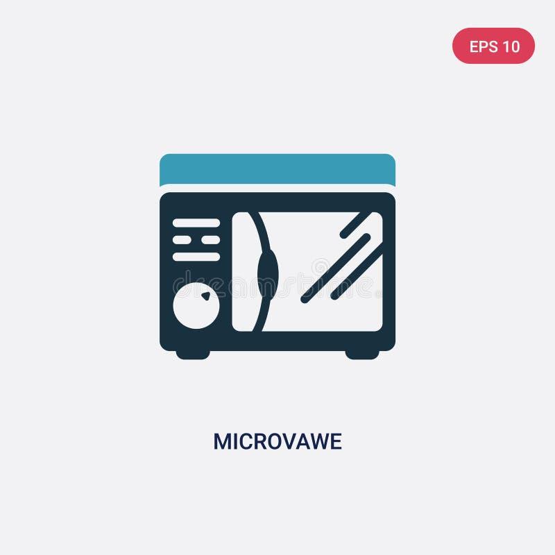 Icône de vecteur de microvawe de deux couleurs de l'autre concept le symbole bleu d'isolement de signe de vecteur de microvawe pe illustration libre de droits