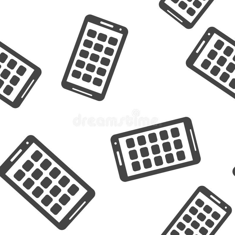 Icône de vecteur de modèle sans couture de smartphone sur un fond blanc illustration de vecteur