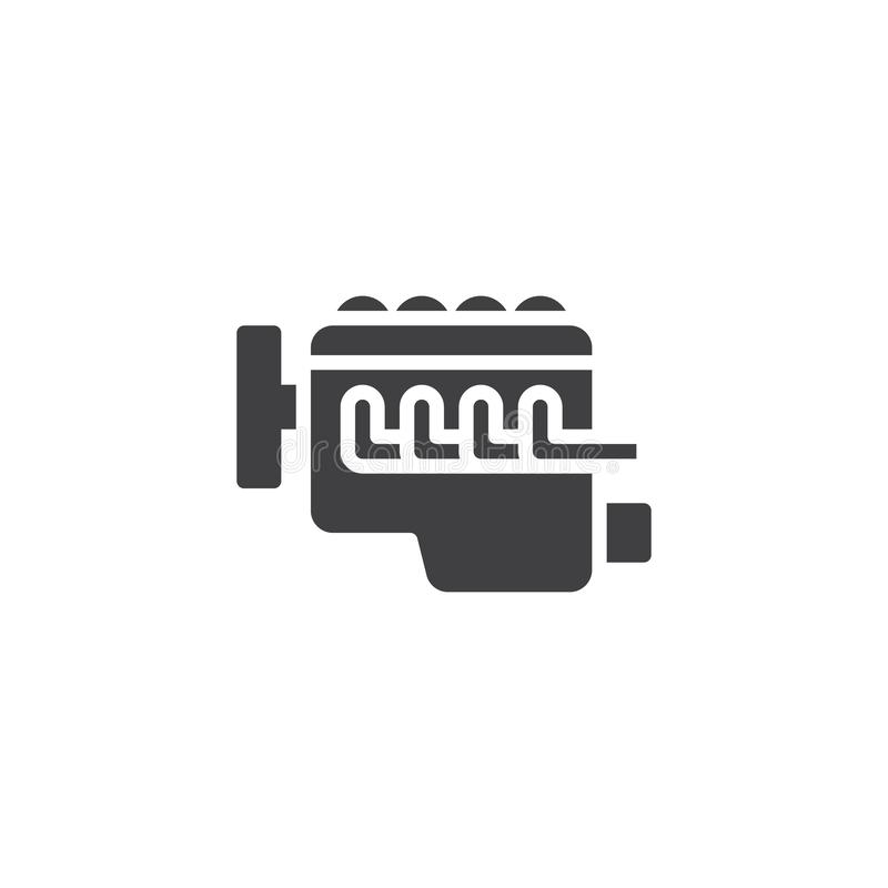 Icône de vecteur de moteur à combustion interne de voiture illustration de vecteur