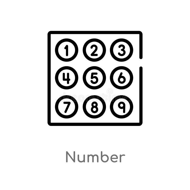 ic?ne de vecteur de nombre d'ensemble r Course Editable de vecteur illustration de vecteur
