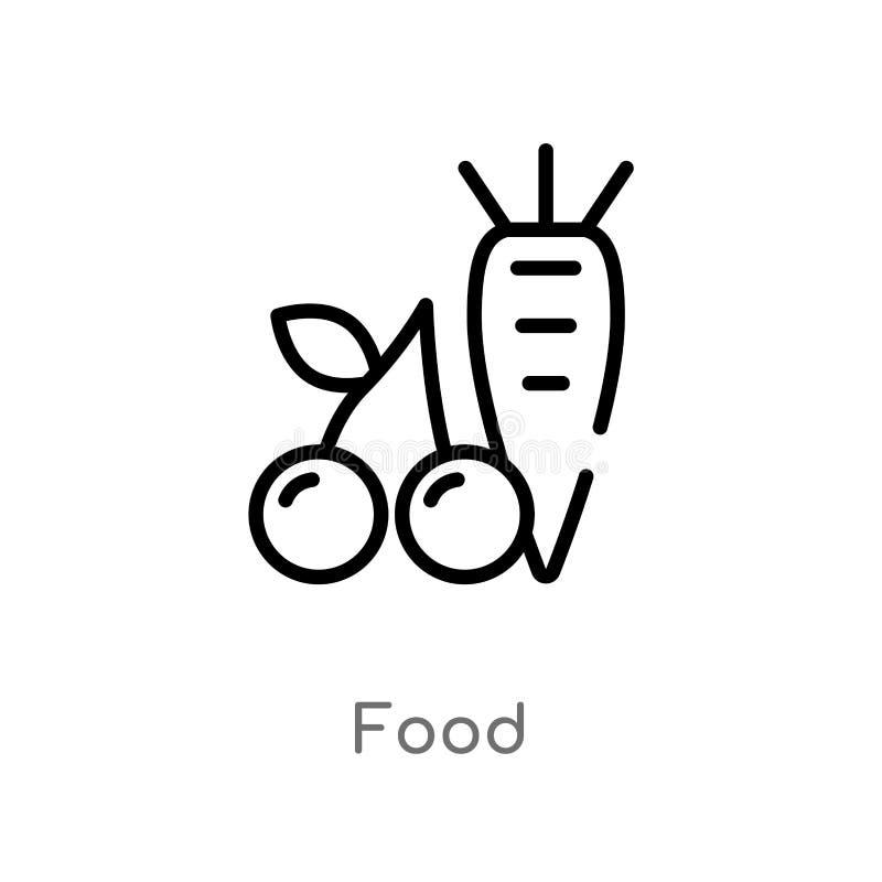 icône de vecteur de nourriture d'ensemble ligne simple noire d'isolement illustration d'?l?ment de concept de sant? icône editabl illustration de vecteur