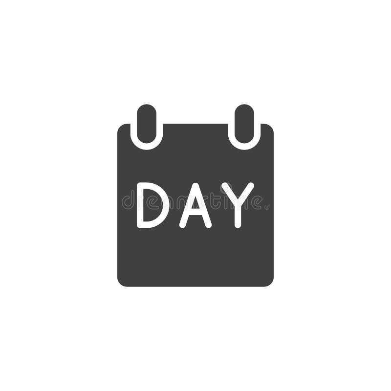 Icône de vecteur de page de jour civil illustration stock