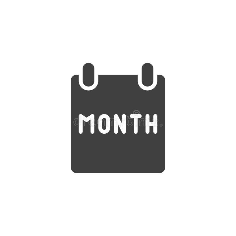 Icône de vecteur de page de mois civil illustration de vecteur