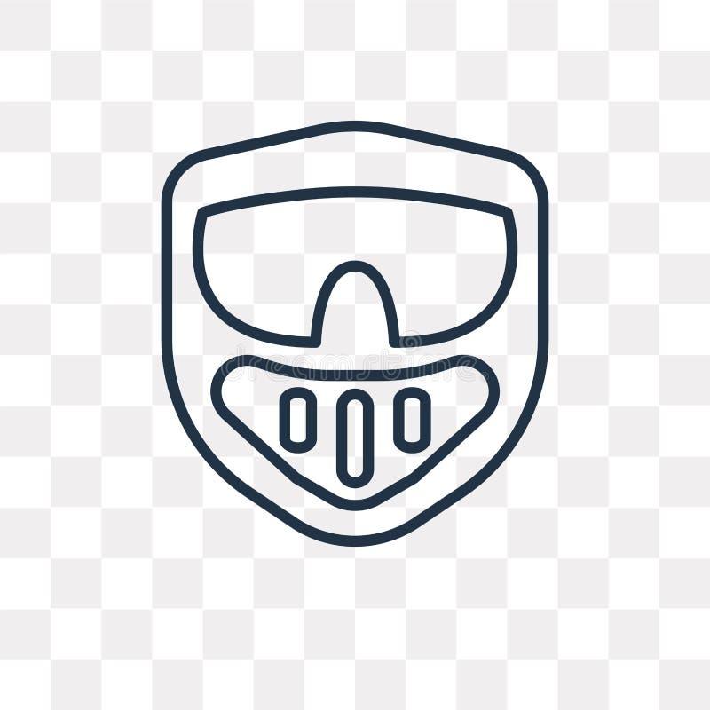 Icône de vecteur de Paintball d'isolement sur le fond transparent, linéaire illustration stock