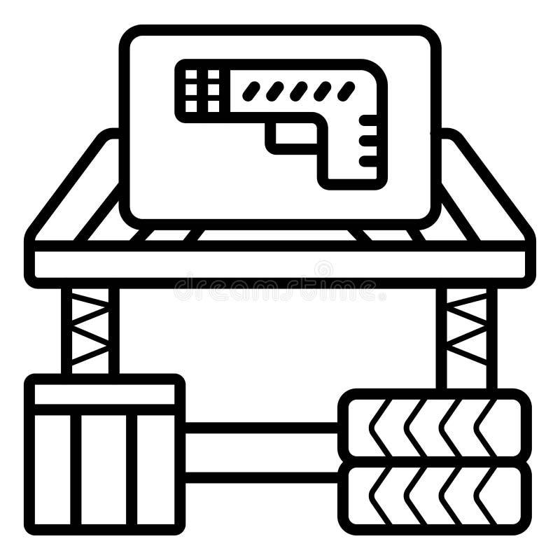 Icône de vecteur de Paintball illustration de vecteur