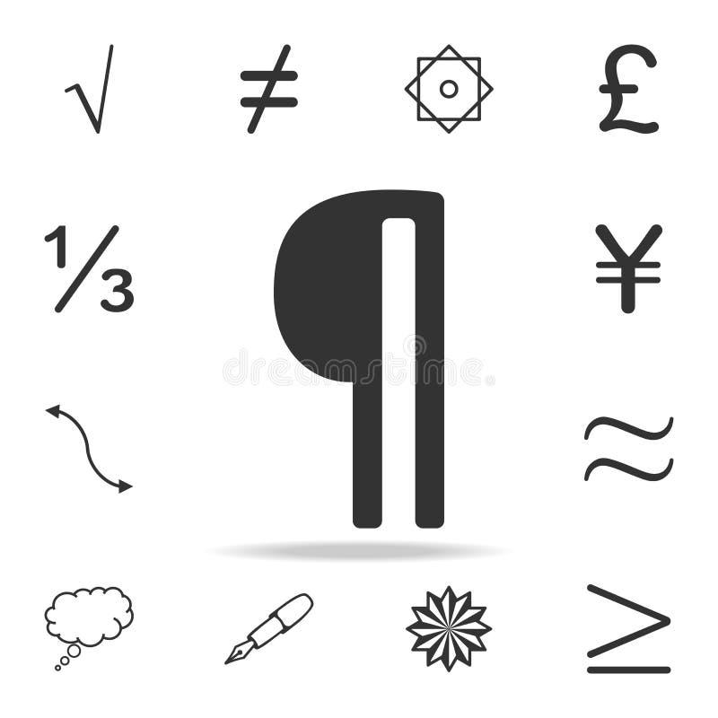 Icône de vecteur de paragraphe Ensemble détaillé d'icônes et de signes de Web Conception graphique de la meilleure qualité Une de illustration stock