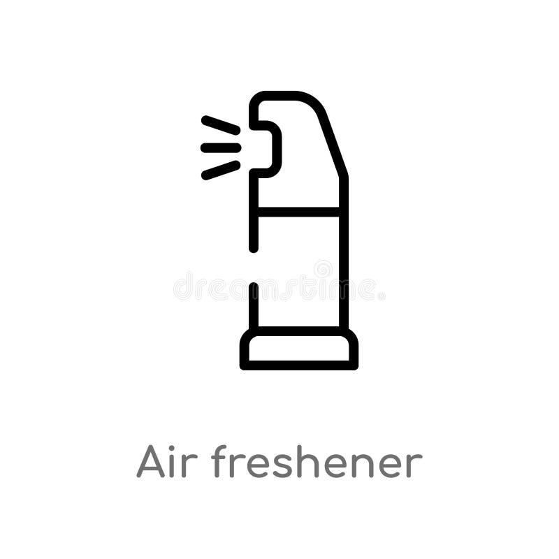 icône de vecteur de parfum d'ambiance d'ensemble ligne simple noire d'isolement illustration d'élément de concept de nettoyage Co illustration de vecteur