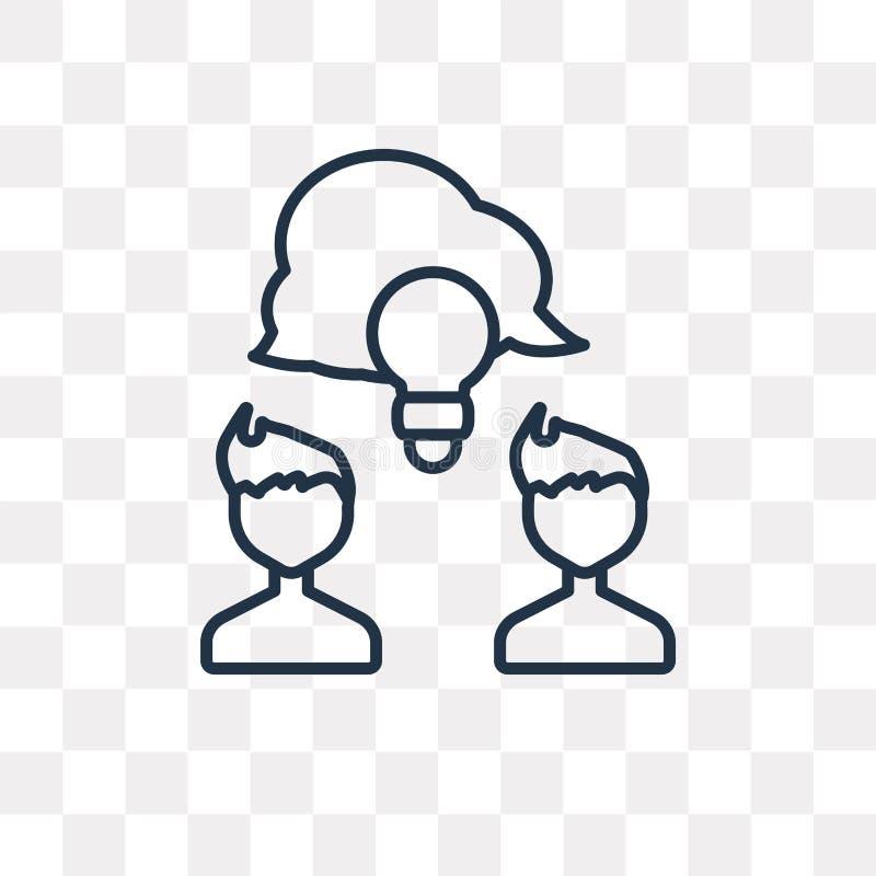 Icône de vecteur de part d'isolement sur le fond transparent, Sha linéaire illustration de vecteur