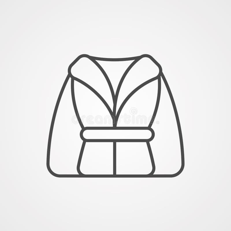 Icône de vecteur de peignoir illustration de vecteur