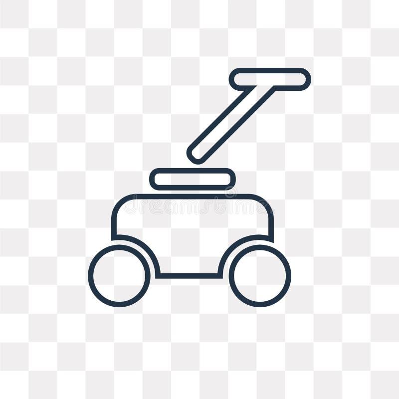 Icône de vecteur de pelouse d'isolement sur le fond transparent, pelouse linéaire illustration stock