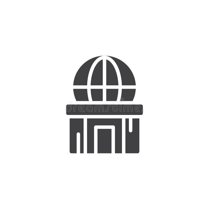 Icône de vecteur de planétarium illustration stock