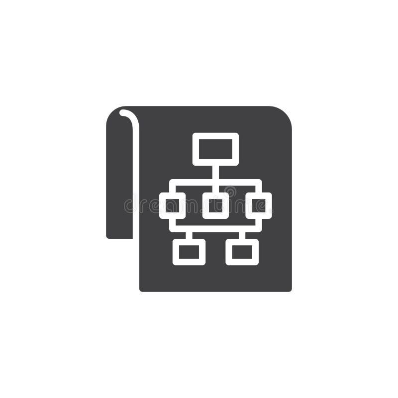 Icône de vecteur de plan du site illustration de vecteur