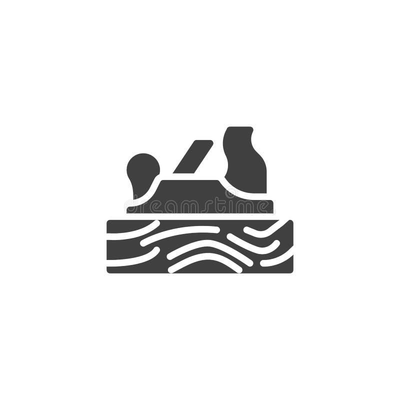Icône de vecteur plat de main illustration stock