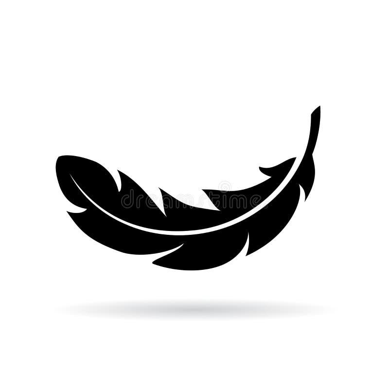 Icône de vecteur de plume illustration stock
