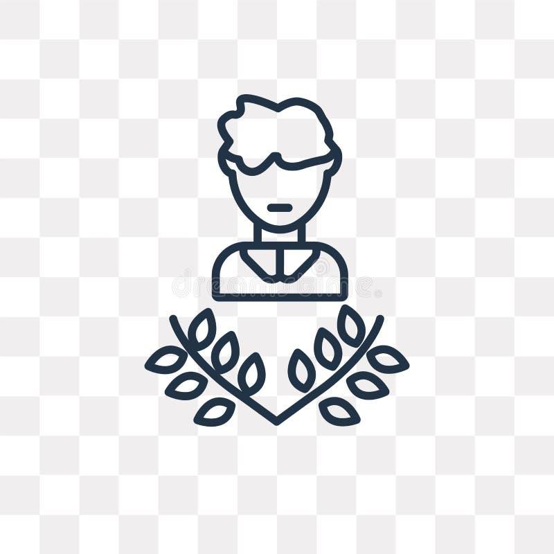 Icône de vecteur de poète d'isolement sur le fond transparent, poète linéaire illustration de vecteur
