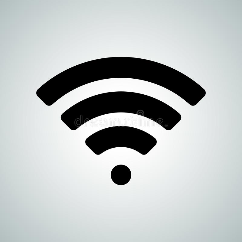 Icône de vecteur de point névralgique d'Internet de WI fi de signal de Wi-Fi illustration de vecteur