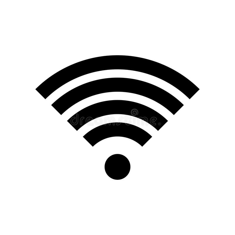 Icône de vecteur de point névralgique d'Internet de WI fi de signal de Wi-Fi illustration libre de droits