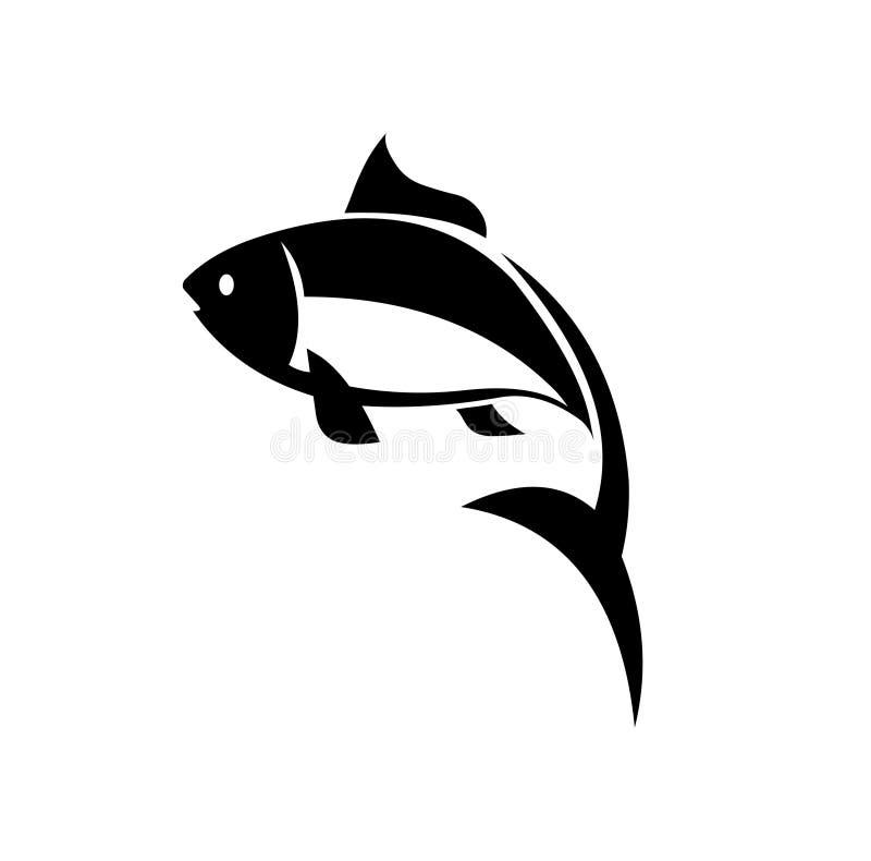 Icône de vecteur de poissons de carpe Icône de poissons de vecteur illustration de vecteur