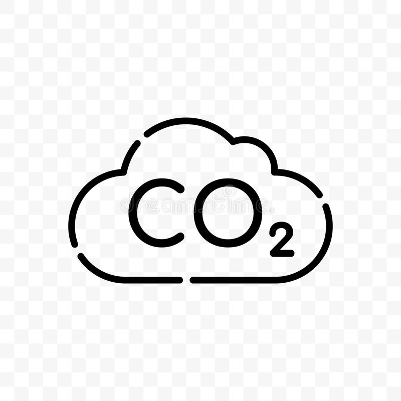 Icône de vecteur de pollution de carbone de nuage de CO2 illustration libre de droits