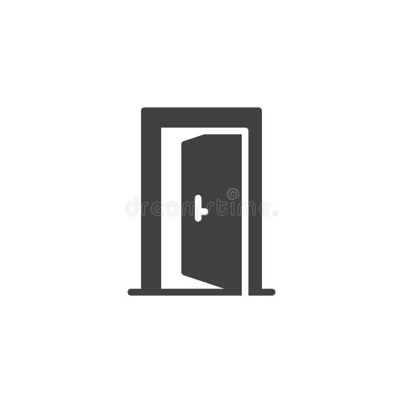 Icône de vecteur de porte ouverte illustration libre de droits