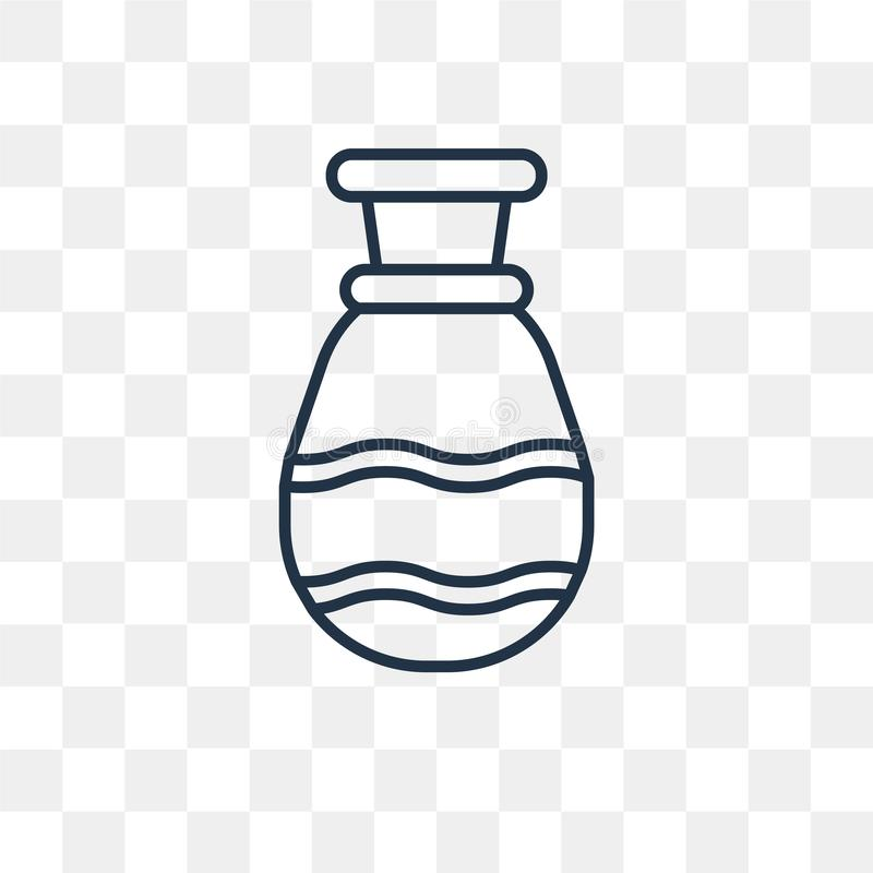 Icône de vecteur de poterie d'isolement sur le fond transparent, P linéaire illustration libre de droits