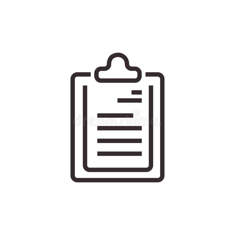 Icône de vecteur de presse-papiers, pixel Eps10 parfait Symbole de bureau photographie stock libre de droits