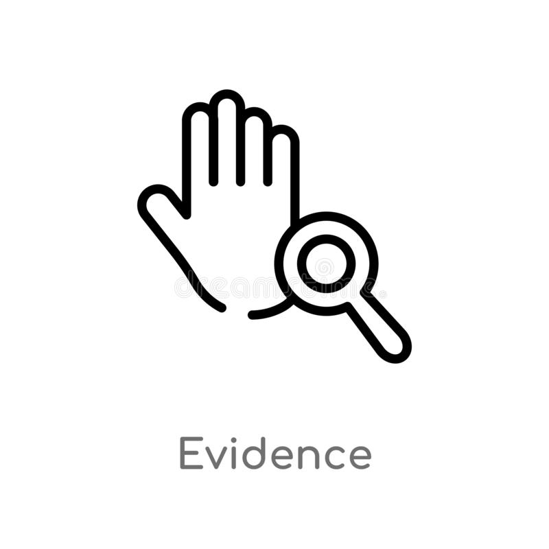 icône de vecteur de preuves d'ensemble ligne simple noire d'isolement illustration d'élément de concept de loi et de justice Cour illustration de vecteur