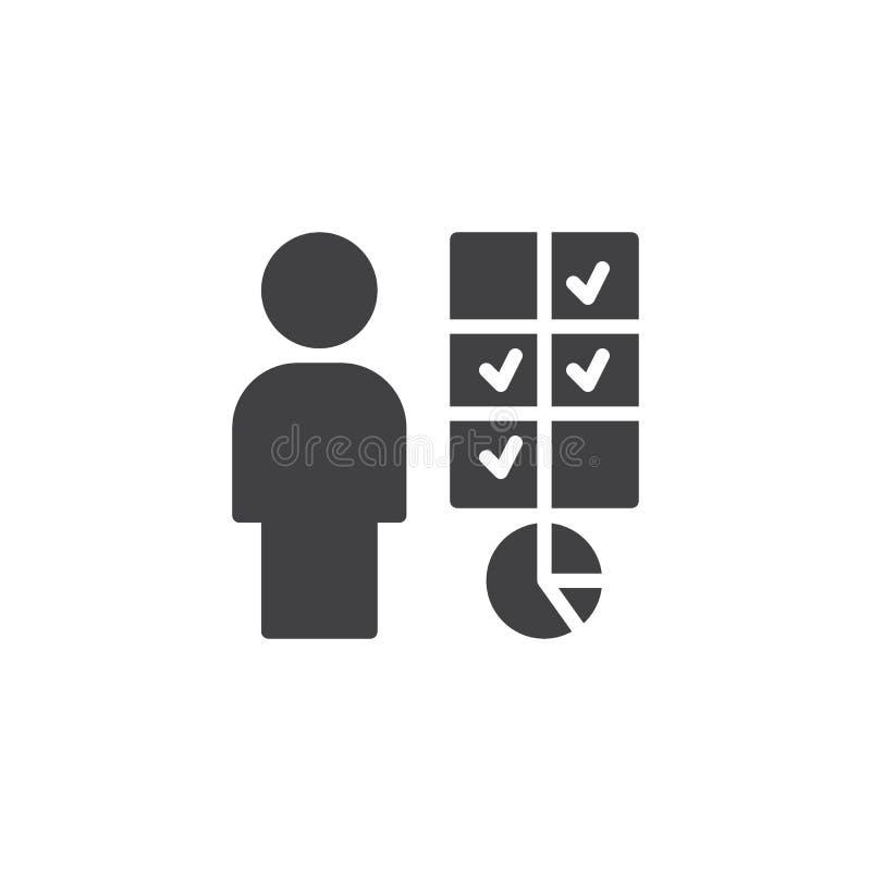 Icône de vecteur de prise de décision d'affaires illustration stock