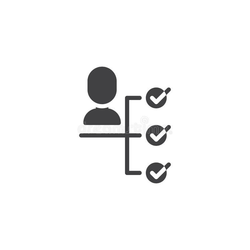 Icône de vecteur de prise de décision d'affaires illustration de vecteur