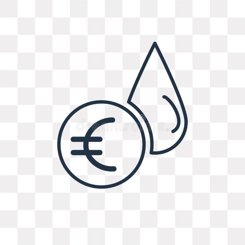 Icône de vecteur de prix du pétrole d'isolement sur le fond transparent, linéaire illustration libre de droits