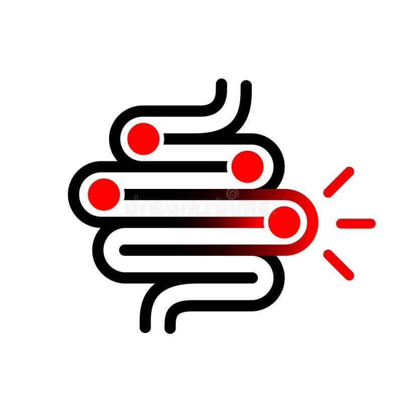 Icône de vecteur de problème d'intestin illustration libre de droits