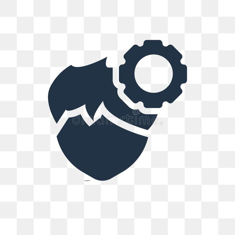 Icône de vecteur de productivité d'isolement sur le fond transparent, pro illustration libre de droits