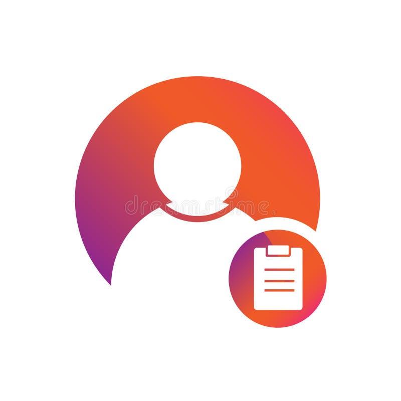 Icône de vecteur de programme de tâche de personnes illustration stock