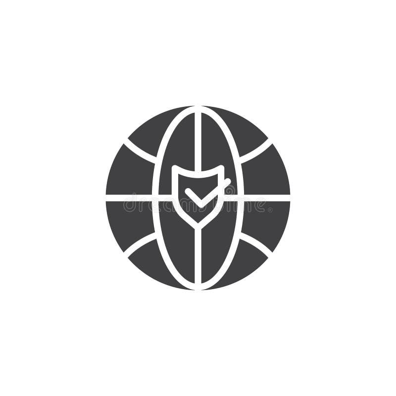 Icône de vecteur de protection de sécurité d'Internet illustration de vecteur