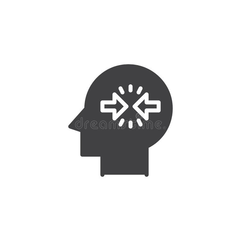 Icône de vecteur de résolution de conflits illustration stock
