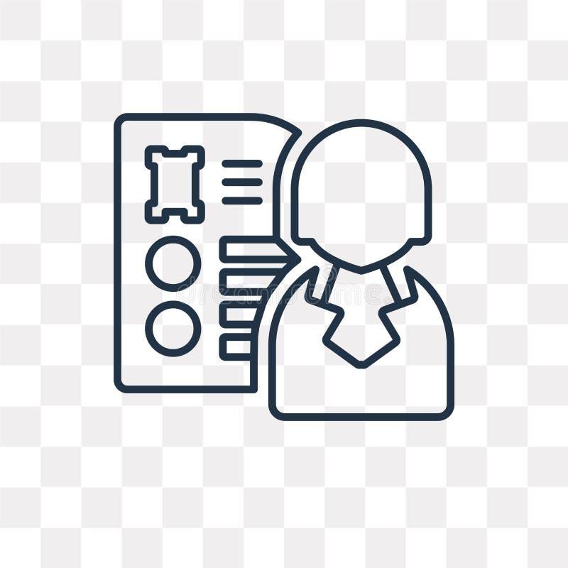 Icône de vecteur de résumé d'isolement sur le fond transparent, Re linéaire illustration de vecteur