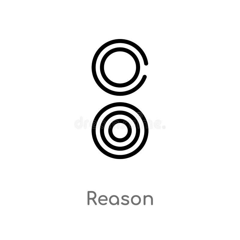 ic?ne de vecteur de raison d'ensemble ligne simple noire d'isolement illustration d'?l?ment de concept de signes ic?ne editable d illustration de vecteur