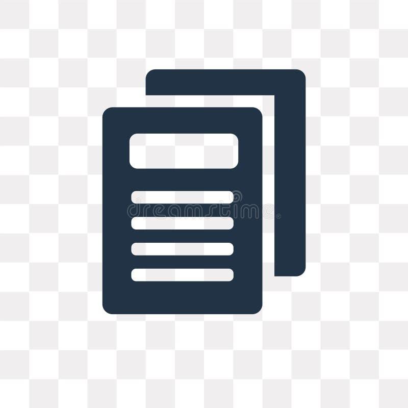 Icône de vecteur de rapport de journal d'isolement sur le fond transparent, illustration libre de droits