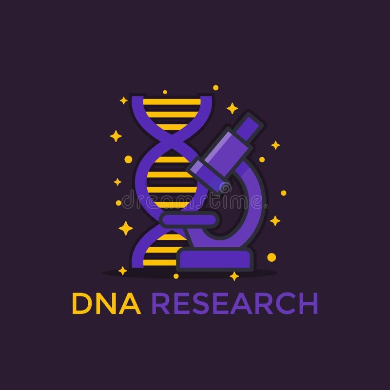 Icône de vecteur de recherches d'ADN illustration libre de droits