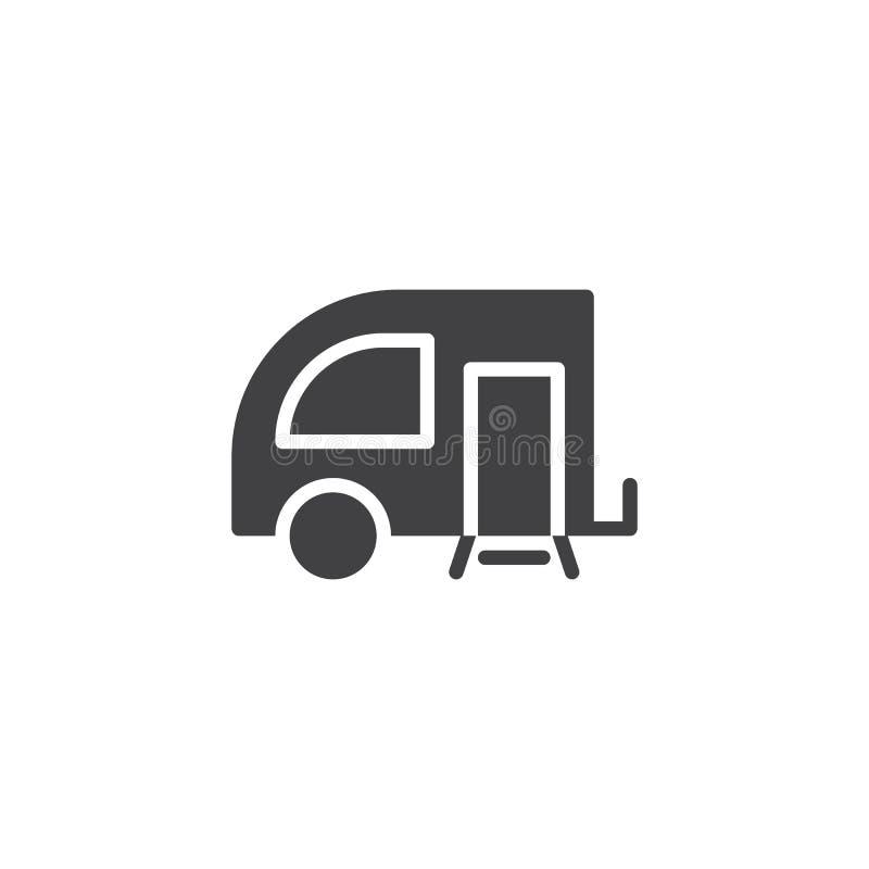 Icône de vecteur de remorque illustration stock