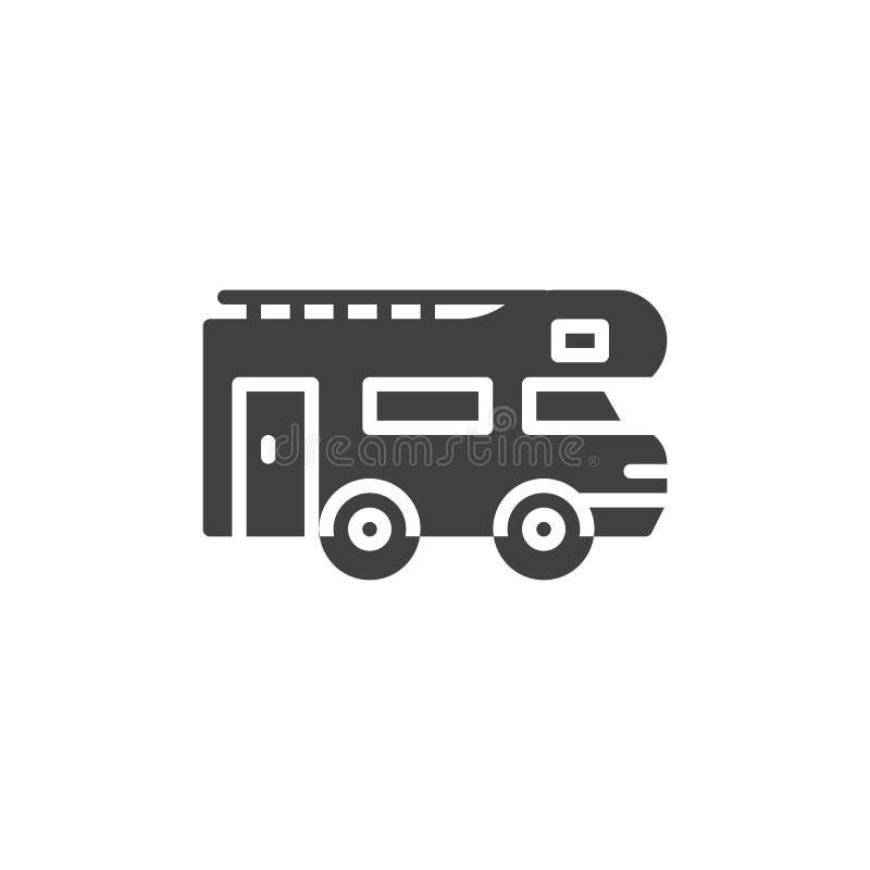 Icône de vecteur de remorque de caravane illustration stock