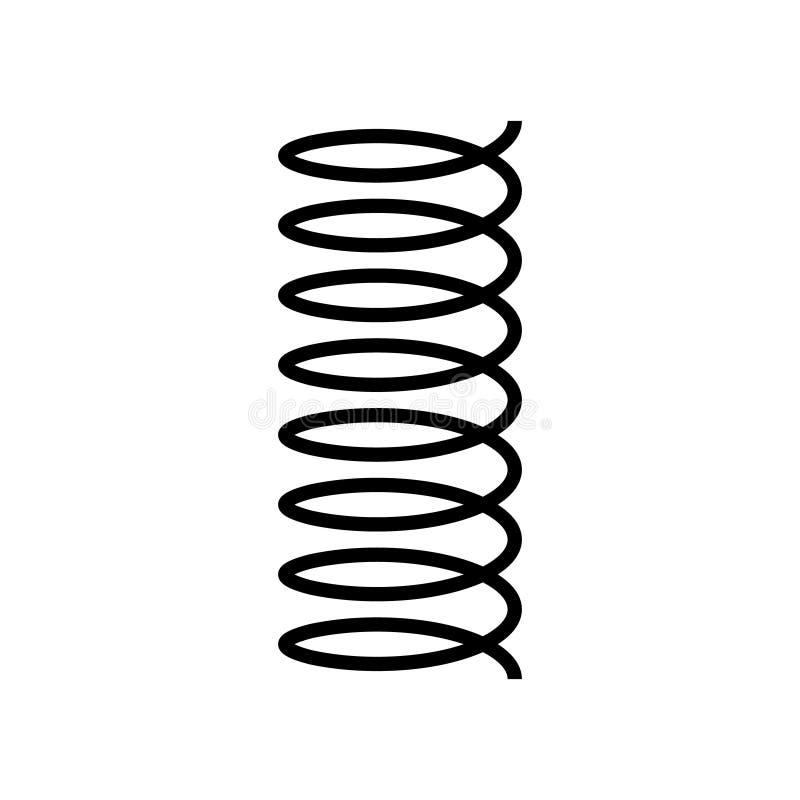 Icône de vecteur de ressort en spirale illustration de vecteur