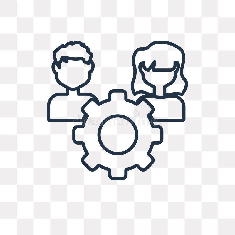 Icône de vecteur de ressource sur le fond transparent, linéaire illustration libre de droits