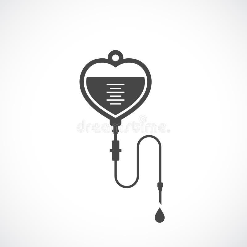 Icône de vecteur de sac d'Iv illustration stock
