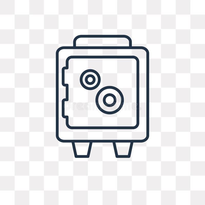 Icône de vecteur de Safebox d'isolement sur le fond transparent, S linéaire illustration libre de droits