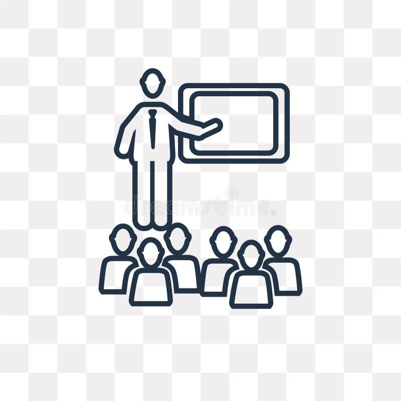 Icône de vecteur de salle de classe d'isolement sur le fond transparent, linéaire illustration stock