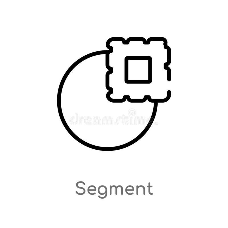 ic?ne de vecteur de segment d'ensemble ligne simple noire d'isolement illustration d'?l?ment de concept de la g?om?trie segment e illustration stock